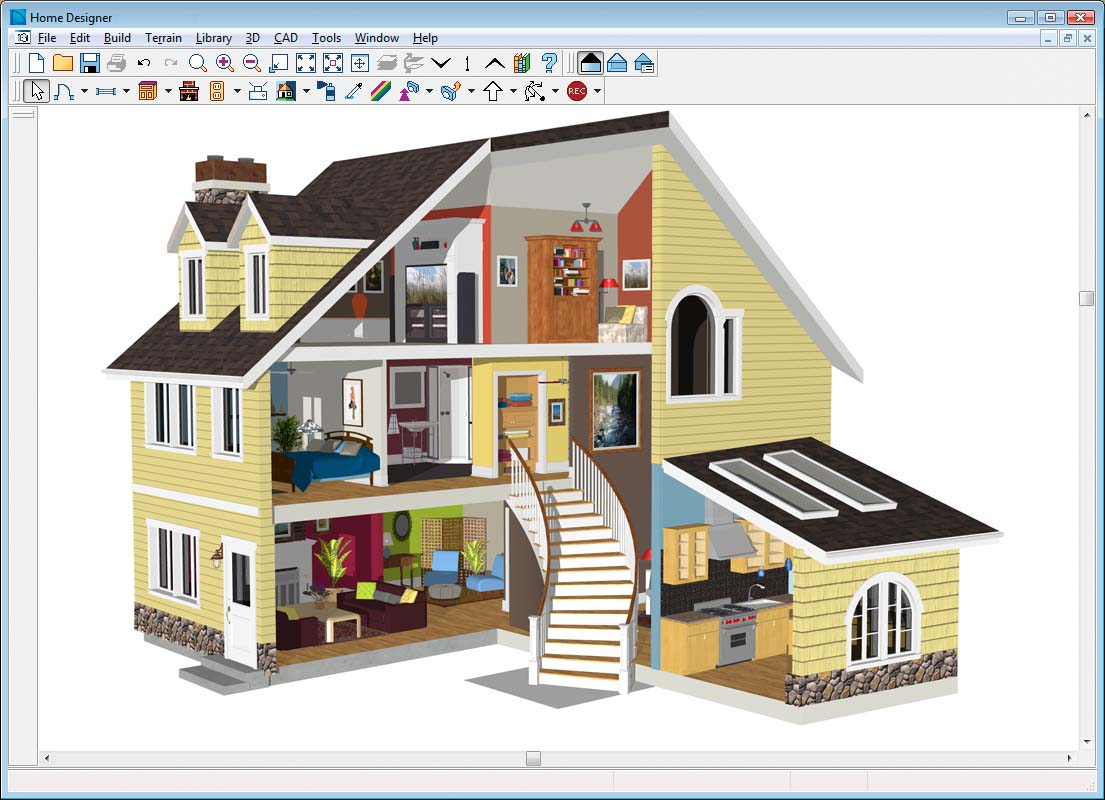 Free house design software reviews free building design for Free home builder